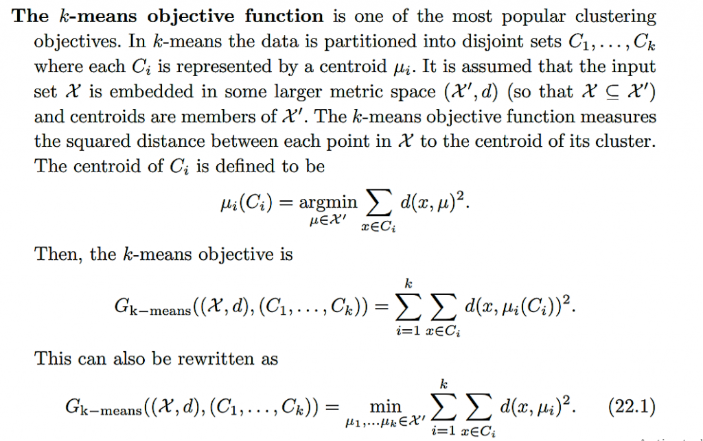 K MEANS OBJECTIVE FUNCTION