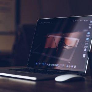 laptop, desk, workplace